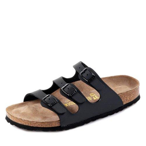 Birkenstock Florida - Zuecos para mujer, color negro, talla 42 EU