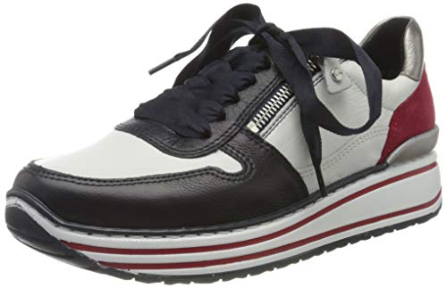 ara Damen SAPPORO 1232461 Sneaker, Weiß (Blau/Weiss, Rot/Zinn 75), 38.5 EU(5.5 UK)