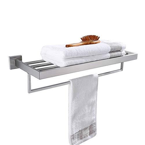 Turs 22 pulgadas Baño Toalla Estante Almacenamiento Organizador Suspensión Estantes de la toalla Acero inoxidable Montaje en pared, Cepillado, Q7008BR