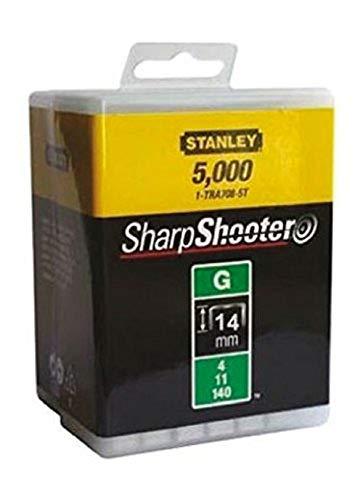 Stanley Klammern Typ G (14 mm, Klammern aus Flachdraht für Elektro- und Handtacker Typ G, 5000-Stück) 1-TRA709-5T
