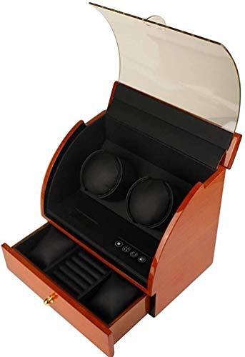 Beauletten Horlogebeweger Horlogebeweger Boxen Automatische uurbeweging houten kist pianolak super stil, turn tafel box, 2 + 2-uurs storages