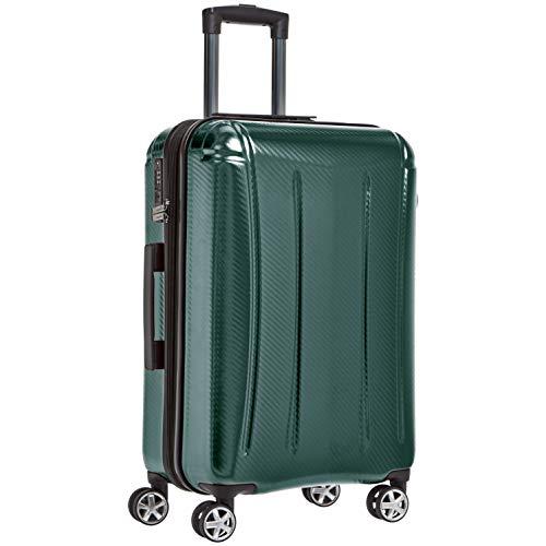 Amazon Basics - Maleta rígida «hardside» Oxford, con ruedas - 68 cm, Verde