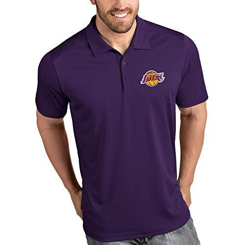 Dll Lettere NBA Lakers Camicia di Polo Collo Alto al di Fuori della Camicia Corsa Casuale Stampa Men (Color : C, Size : L)