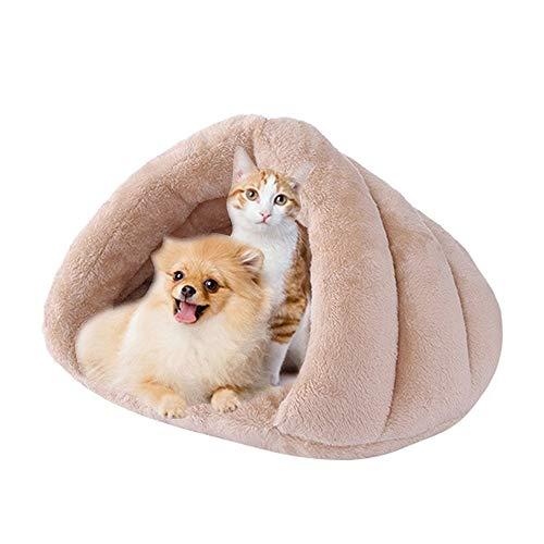 IEUUMLER Cama Perro Pequeño Saco de Dormir Casa y Sofá para Perros Gato Puppy Conejo Mascota IE119 (Camel)