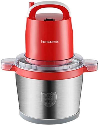 UWY Trituradora de Alimentos eléctrica doméstica, Robot de Cocina de Alto Rendimiento, batidora de Acero Inoxidable de 6 l para Carne, Verduras, Frutas y Frutos Secos, rápida y Lenta, 2 velocida
