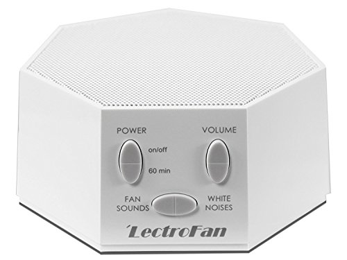 Adaptive Sound Technologies LectroFan High Fidelity White Noise Machine with 20 Unique Non-Looping Fan and White Noise Sounds and Sleep Timer (240V), White, (ASM1007-WA)