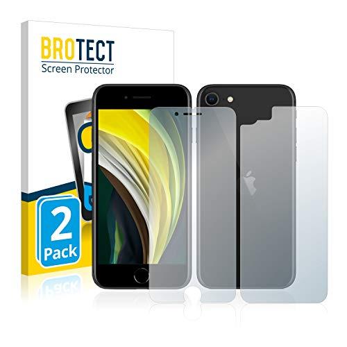 BROTECT Protector Pantalla Anti-Reflejos Compatible con Apple iPhone SE 2 2020 (Frontal + Trasera) (2 Unidades) Pelicula Mate Anti-Huellas