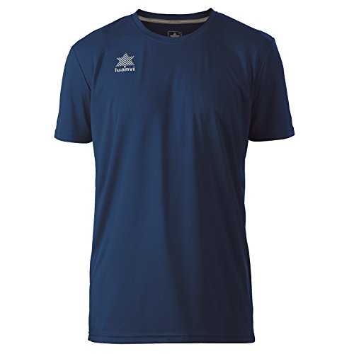 Luanvi Pol Camiseta de Deportes Manga Corta, Hombre, Marino, XL