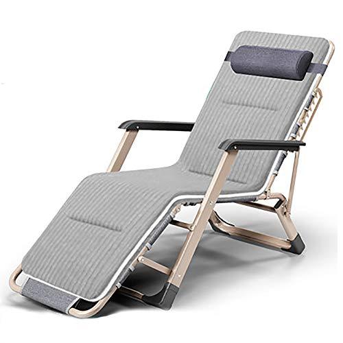 BLWX - Chaise pliante Chaise pliante Déjeuner Lit Siesta Heureuse Chaise Dos Chaise paresseuse Portable Plage Maison Multifonction Chaise pliante (Couleur : B)