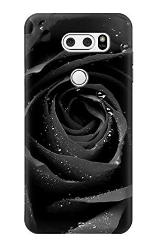 Innovedesire Black Rose Hülle Schutzhülle Taschen für LG V30, LG V30 Plus, LG V30S ThinQ, LG V35, LG V35 ThinQ