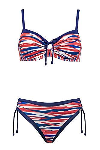 Charmline Bikini-Set Coral Grace Style 2051 des.856 (White-Maritime, 42D)