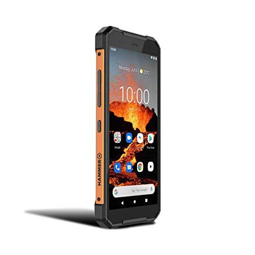 Hammer Explorer Pro eSIM, smartphone ruggedized, IP69, display ips da 5,7 pollici, 5000 mAh, USB-C, Android 10, Fotocamera 48Mpx, batteria 5000 mAh, nfc, 4G LTE, doppia sim, 6 gb ram, arancione