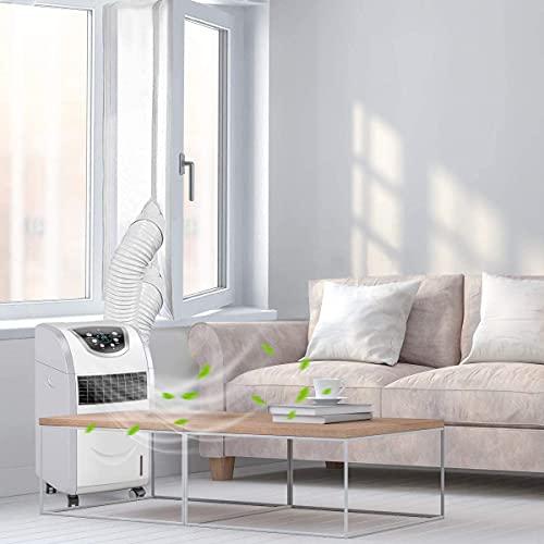 Junta de ventana de 400 cm para aire acondicionado portátil y secadoras, unidad de aire acondicionado móvil, junta de tela suave, cierre de aire caliente con cremallera y cierre adhesivo