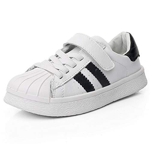 Qianliuk Leder Kid Sneakers atmungsaktiv Deodorant Kinder Basketball Schuhe Mädchen Stoßdämpfung Freizeitschuhe für Vier Jahreszeiten