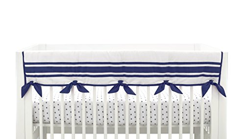 Just Born Crib Rail Guard Cover, Classic Navy