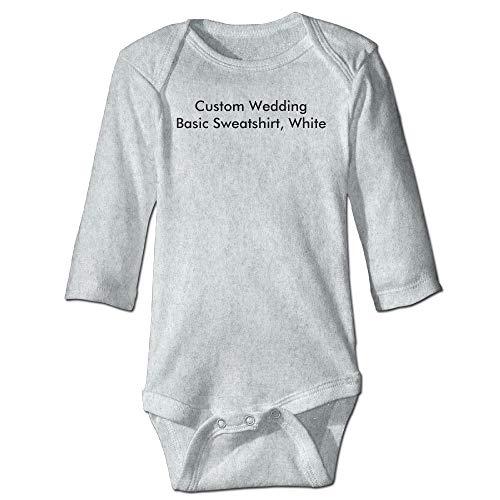 Body de manga larga para bebé, unisex, para recién nacido, para boda, básico, blanco, para niños, de manga larga, traje de sol, color ceniza
