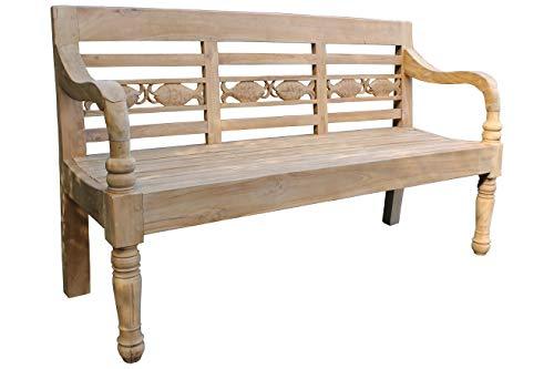 Vollwaren - Panchina da giardino in teak Henry, 150 cm, in legno di teak massiccio