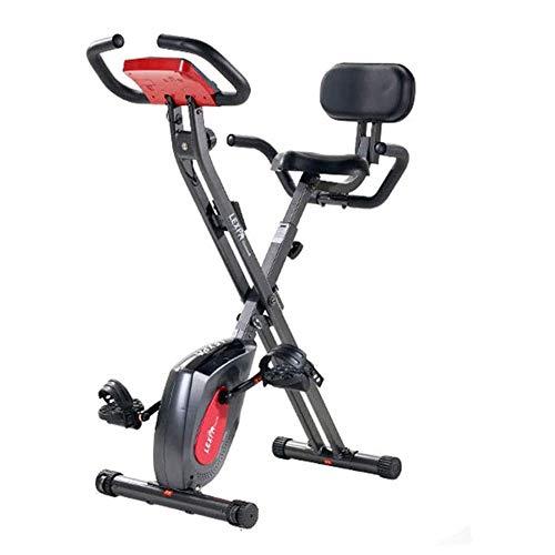 WJFXJQ Mini Cyclette, Display a LED Regolabile Sedile Esercizio Fitness Pedale Bici di filatura, la Perdita di Peso Coperta Aerobica Sport stazionario Attrezzature Fitness