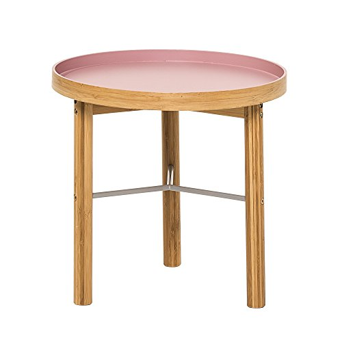 Bloomingville Table basse en bambou, Mauve/Naturel
