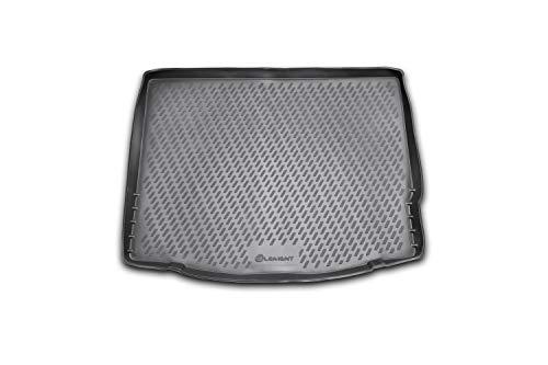 Element EXP.CARFRD00006 Passgenaue Premium Antirutsch Gummi Kofferraumwanne - Ford Focus 3, Schrägheck - Jahr: 11-15, schwarz, Passform