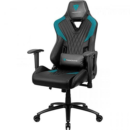 ThunderX3 DC3, silla gaming, tecnologia AIR, transpirable y ajustable, cyan
