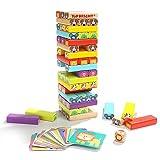 Holz-Vier-in-Eins-Spiel mit Tieren und Farben, Familienbrettspielen und Lernspielzeug, das die kognitiven Fähigkeiten von Kindern verbessern kann