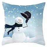 RK-HYTQWR Funda de Almohada Decorativa de Navidad nórdica Funda de cojín de Terciopelo con Estampado de muñeco de Nieve, 2 Funda de Almohada de Navidad nórdica, 2