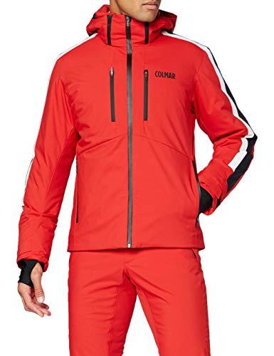 Colmar Herren Daunenjacke 1063 Skijacke, Bright Red-Black-WHI, 50
