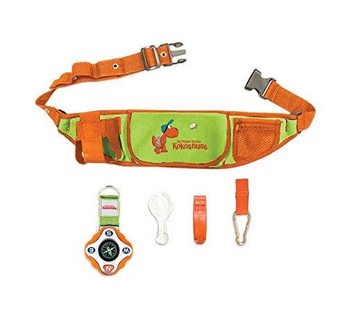 Der kleine Drache Kokosnuss - Expeditions-Set: Enthält: Kompass - 2 Karabinerhaken - Expeditionsgürtel - Lupe mit 3 & 6 facher Vergrößerung