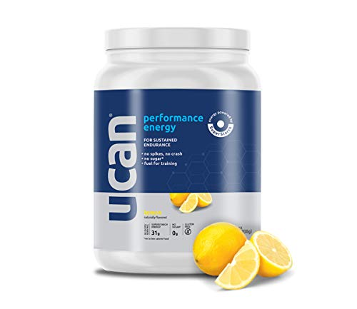 UCAN Energy Powder - Long Lasting, Pre & Post Workout, No Added Sugar, Non-GMO, Vegan, Gluten Free, Keto Friendly, SuperStarch (Lemon) - 20 Servings