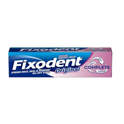 FIXODENT Denture Adhésif Crème Frais, 40 ml, Lot de 6