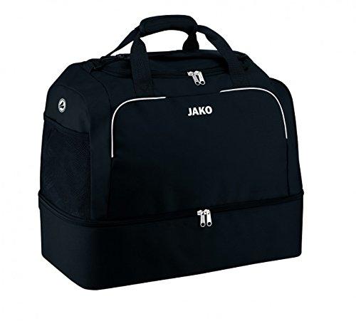 JAKO Sporttasche Classico - mit Schuhfach, Farbe:schwarz, Größe:2 (Senior)