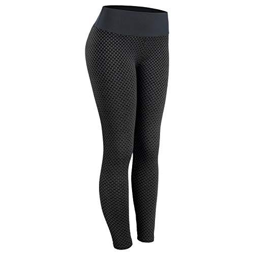 Mallas Leggings Push Up Mujer Fitness Legging Sin Costuras Anticelulitis para Mujer Leggins De Cintura Alta Casual Negro Gym Training S Negro