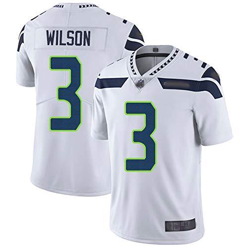 LIANGJK Rugbyballanzug Seattle Seahawks Seahawks 3 Wilson II Legendary Besticktes Trikot