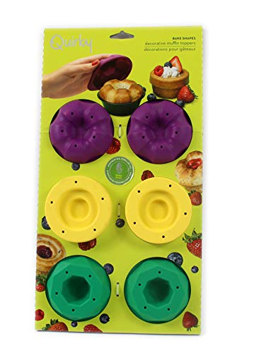 Quirky Bake formes Lot de 6 muffins de tasse en silicone décoration Moules en acier inoxydable