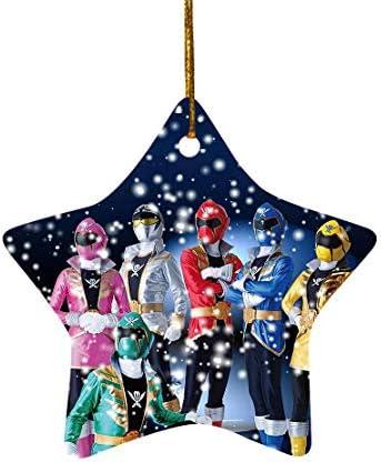 Tiyena Christmas Star Ornament Power Superheros Teenagers Rangers Children s TV Series Lovers product image