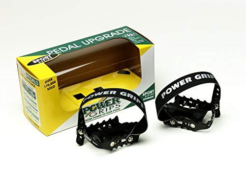 Power Grips Sport Pre-Assembled Strap/Pedal Kit, Black