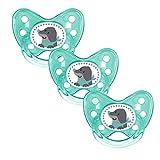 Dentistar® Schnuller 3er Set - Silikon Nuckel in Gr. 3 - kiefergerecht -  BPA frei