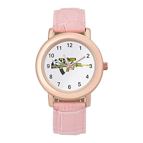 荒野行動 腕時計 可愛い 安い 柔らかいベルト 本革 DOLLBA ガールズ レディース 女子 学生 キッズ ウォッチ 誕生日 成人式 新学期 プレゼント キャラクター グッズ
