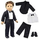 ZITA ELEMENT 4 Stück 18 Zoll Boy Puppenkleidung Bräutigam Anzug für amerikanische 43-46cm Boy...