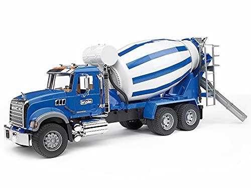Bruder 2814 - MACK camión mezclador de hormigón granito , color/modelo surtido