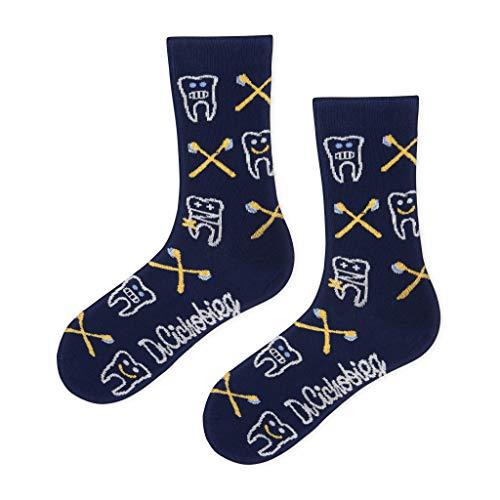 DrSoftStep Socken | 41-46 | Lustig Bequem Geschenk | Geburtstag | Arbeit Job | Toothsox