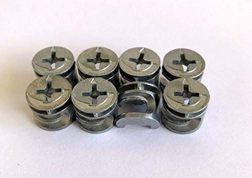 Small CAM FIXINGS Connector Bolts 12mm x 10mm for Flat Pack or Self-Assembly Furniture. Pack Sizes 2, 4,...