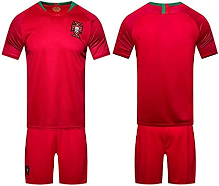 870c5f18c 2018 world cup Football Jersey Portugal Team Football suits Short-sleeved  T-shirt -