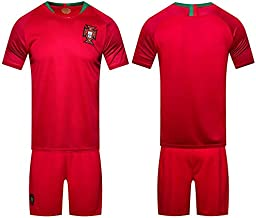 2018 world cup Football Jersey Portugal Team Football suits Short-sleeved T-shirt - L code