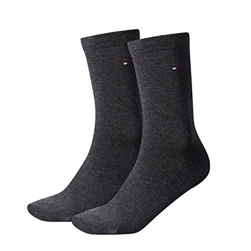 Tommy Hilfiger Damen Socken Casual 8er Pack, Größe:39-42;Farbe:anthracite melange