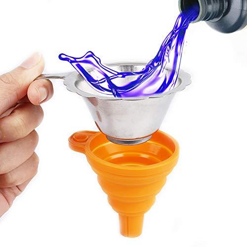 perlo33ER 2 Stücke Metall UV Harz Filter Tasse Silicon Trichter für ANYCUBIC Photon SLA 3D Drucker,umweltfreundlich, langlebig, einfach zu bedienen und zu reinigen