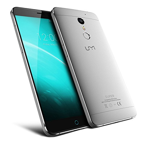 UMIDIGI Super Smartphone 5.5 Zoll FHD 4GB RAM / 32GB Speicher Android 6.0 4000mAh Akku 4G LTE MTK6755 P10 Octa Core Metall Handy mit 5MP/13MP Kameras Dual SIM und Quick-Charging Fingerabdruckscanner – Gold/Grau