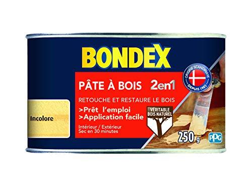 BONDEX - Pate à bois - Rebouche et Restaure le Bois - Sec en 30 min - 250g -...