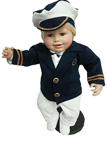Danvit Baby Taufeanzug, Seemann, Junge,62, 68, 74, Hochzeit Baby (68 - Nachtblau/Weiß)